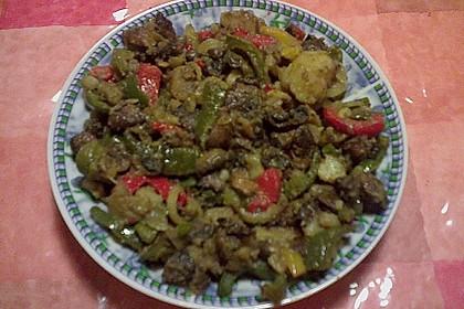 Champignon - Paprika - Zwiebel - Kartoffelpfanne