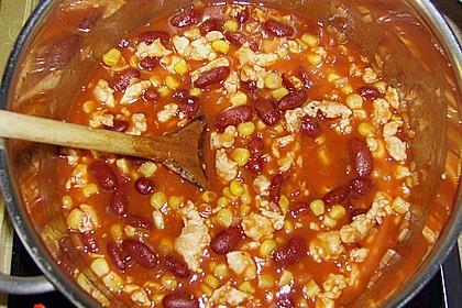 Fettarmes Chili con Carne mit Huhn