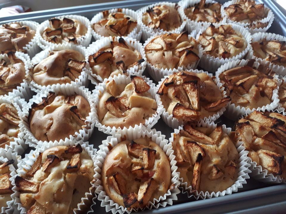 Fett Und Kalorienarme Apfel Zimt Muffins Von Nicky0110
