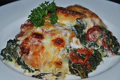 Tomaten - Spinat - Lasagne 4