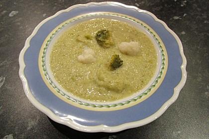 Blumenkohl - Brokkoli - Suppe 1