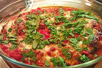 Hähnchenbrust in Tomaten - Kapern - Oliven - Sauce 1