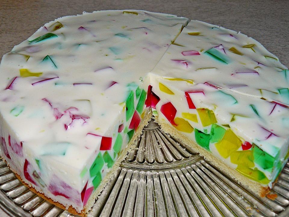 Bunte Gotterspeise Torte Von Xyinkwh Chefkoch De