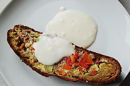 Gemüse - Hack - Strudel mit Bechamelsauce (Bild)