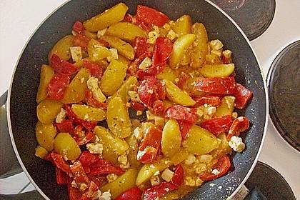 Vegetarische Kartoffel - Gyrospfanne