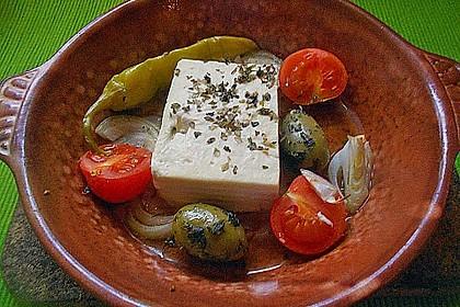 Gebackener Schafskäse 'Griechische Art' 9