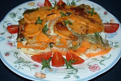 Süßkartoffel - Lauch - Frittata