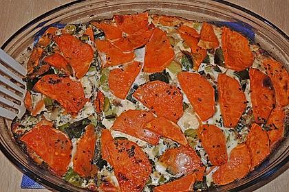 Süßkartoffel - Lauch - Frittata 1