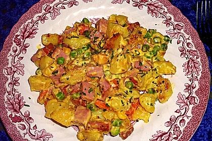 Schnelle Leberkäse - Kartoffel - Gemüse - Pfanne 3