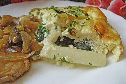 Spargel - Zucchini - Quiche mit Frischkäse