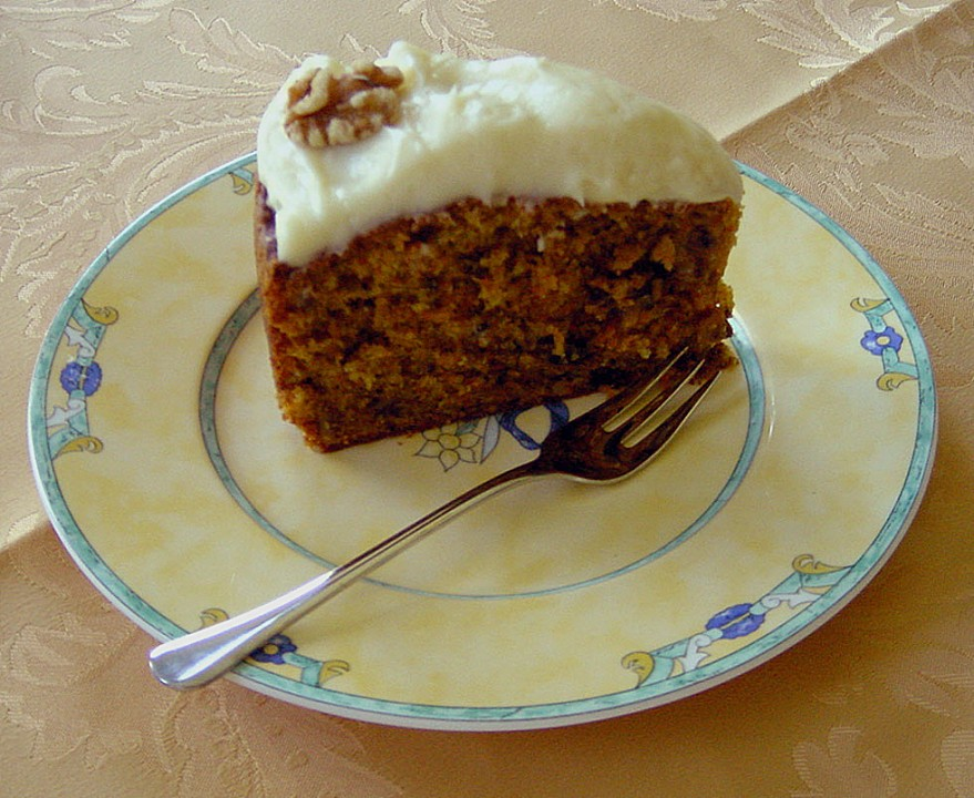 Karottenkuchen Mit Frischkasecreme Von Pumpkin Pie Chefkoch De