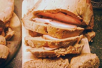Kasseler im Brotteig mit Senf