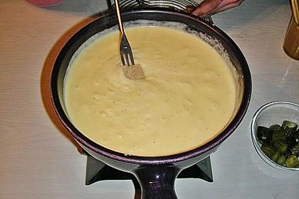 Käsefondue aus dem Kanton Waadt in der Schweiz 2