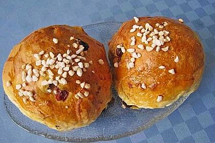 Rosinenbrötchen oder Hagelzuckerbrötchen 2