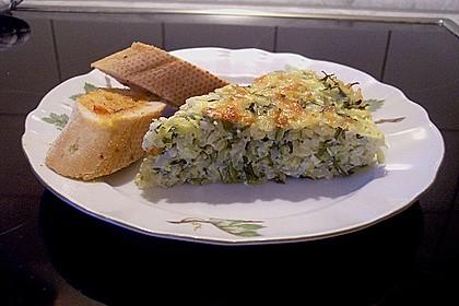 Reiskuchen mit Zucchini und Rucola 1