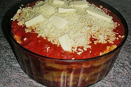 Überbackene Polenta mit Tomatensauce 2