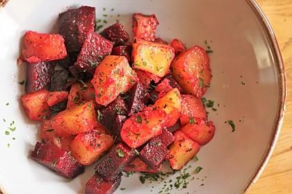 Rote Bete und Kartoffeln