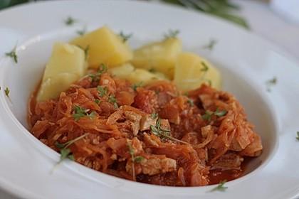 Hühnchen mit Sauerkraut