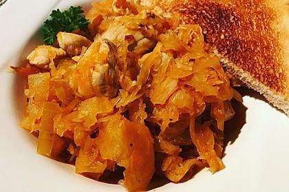 Hühnchen mit Sauerkraut 5