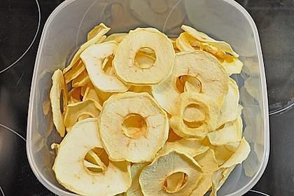 Getrocknete Apfelringe 2