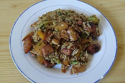 Exotische Reispfanne mit Hähnchenbrust 1
