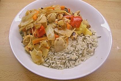 Exotische Reispfanne mit Hähnchenbrust 4