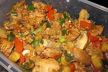 Exotische Reispfanne mit Hähnchenbrust 3