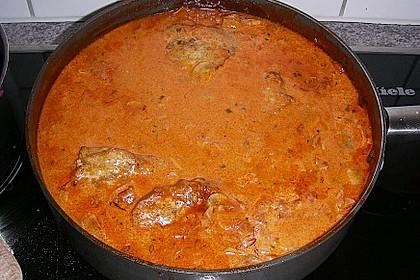 Schweineschnitzel an einer Champignon - Speck - Paprika - Sauce 5