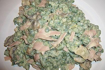 Spinat - Spatzen mit Schinken - Rahm - Sauce 5