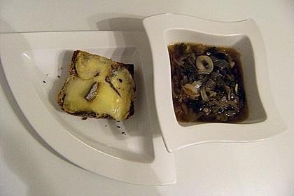 Zwiebelsuppe mit Käsebaguette 1