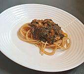 Spaghetti mit Spinat und Mozzarella (Bild)