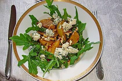 Rucolasalat mit Birne und Gorgonzola 1