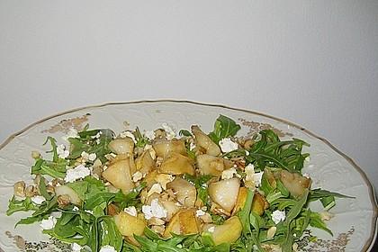 Rucolasalat mit Birne und Gorgonzola 3