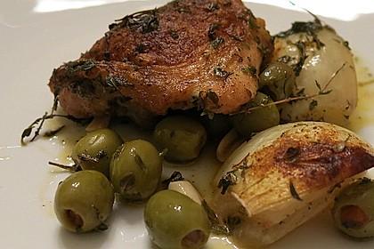 Oliven - Hähnchen II. (Pollo con le olive)