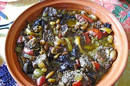 Rindfleisch - Tajine mit Mandeln und Backpflaumen 2