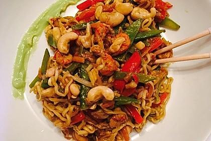 Chinesische Nudel - Krabben - Pfanne 1