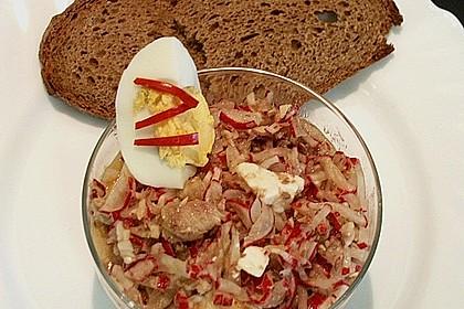 Radieschen - Sardinen Salat 1