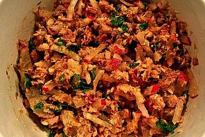 Radieschen - Sardinen Salat