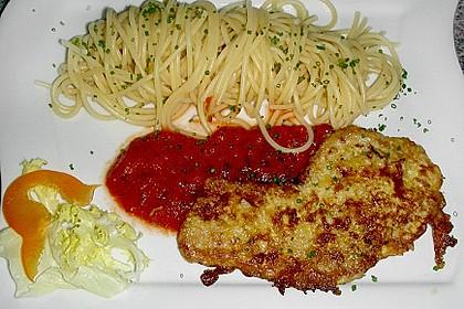 Schnitzel in Eier - Käse Panade