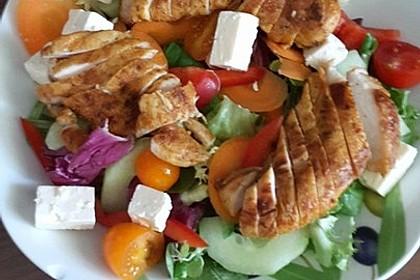 Italienischer Salat mit Hähnchenbrust 13