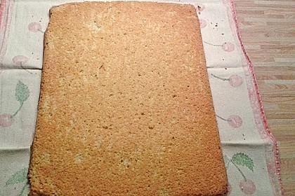 Biskuitteig für Biskuitrolle (Bild)
