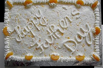 Käse - Sahne - Torte mit Mandarinen