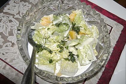 Romanasalat mit Paprika 1