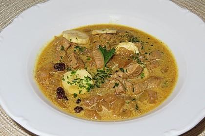Fruchtige  Curry - Rahm - Suppe (Bild)