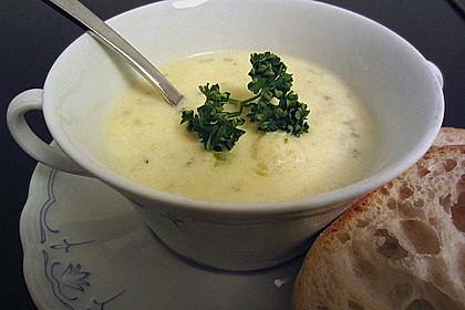 Blumenkohl - Käse - Suppe 1