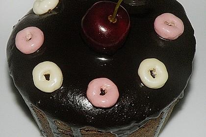 Schokoladentörtchen mit Kirschen 13