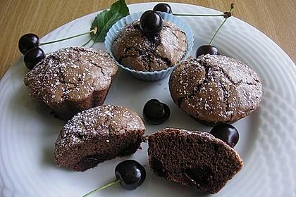 Schokoladentörtchen mit Kirschen 1