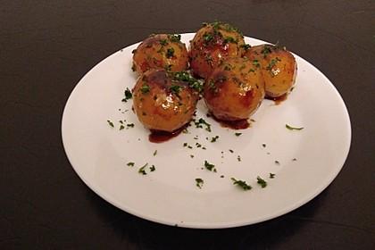Karamellkartoffeln mit Obstsalat 3
