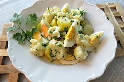 Karfiol mit Eier - Kräuter - Sauce 3
