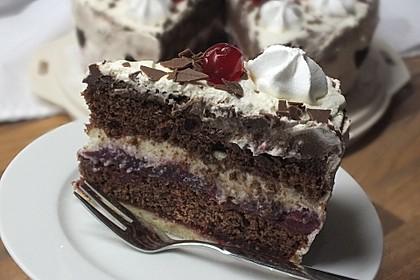 Kirsch - Schokosahne - Torte Schwarzwälder Art